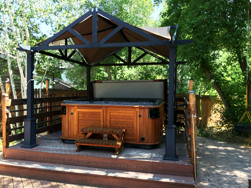Arctic Spas Hot tub covered with a gazebo