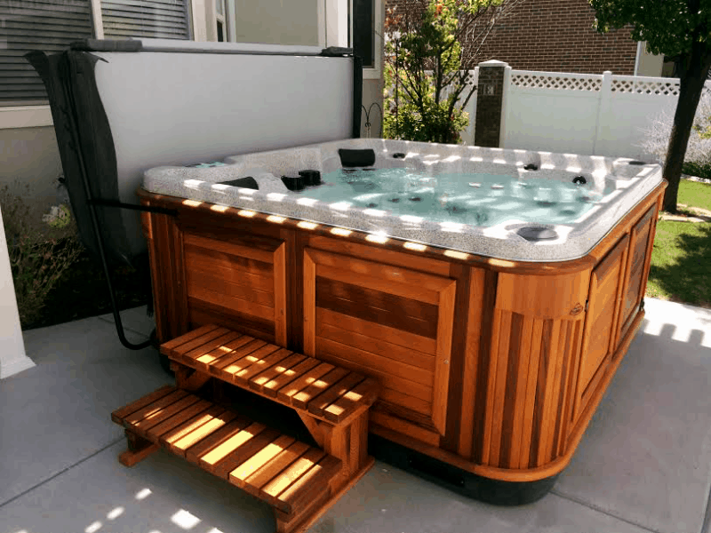 Arctic Spas Hot tub in the backyard